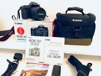 Canon 70D with 18-135mm kit lens + extras!!