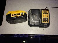 Dewalt 4 amp battery + charger