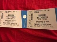 2x Pierce the Veil tickets for 1st Dec