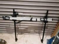 Thule 591 bike rack & Paddy hopkirk 401u roof bars