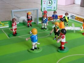 Playmobil - Football Pitch, players, other people plus accessories - Little Somerford, Malmesbury