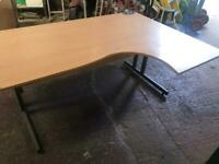 1600mm Right Curved Beech Desk