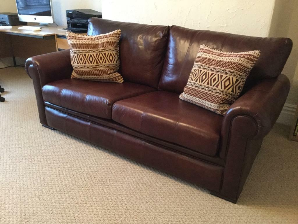 derwent large leather sofa in mossley hill merseyside