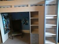 Lovely cabin bed with storage and brand new mattress