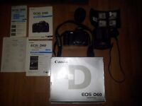 CANON EOS D60 Digital SLR + CANON ZOOM LENS EF 35-70mm + 2 BATTERIES + CHARGER + 5 COMPACT FLASH