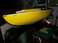 Model sailing boat..LOA 48 inches, Beam 13 inches.