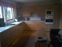 Used Fitted Kitchen. Solid oak doors.