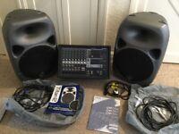 PA SYSTEM: Yamaha 312sc Powered Mixer & 2 x Wharfedale Pro Titan 12 2-way passive loudspeakers