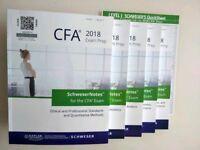 CFA Schweser 2018 Kaplan University Books For Sale ((BOOKS STILL AVAILABLE))