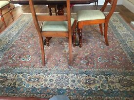 *REDUCED* Genuine INDIAN RUG (8' x 8'), luxurious deep wool pile, gorgeous colours