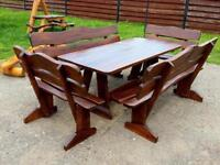 High Quality solid oak Patio sets, tables and benches