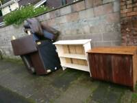 Free-Corner leather sofa and cabinets