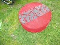 RED POUFFE FREE TO COLLECT