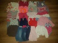 9-12 months girls clothing bundle only £15 jeans, tops, dresses, swimming costume