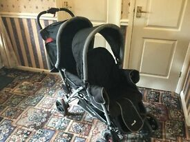 Safety First Duodeal Tandem Pushchair - Black Sky