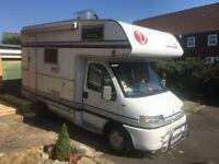 Fiat Ducato Motorhome Camper campervan mobile home 2.5TD 104k miles 8 mth MOT Great Cond 4 berth