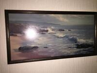 PETER ELLENSHAW painting in dark wood effect frame for £500