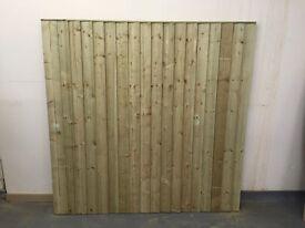 Feather edge fence panels tanalised