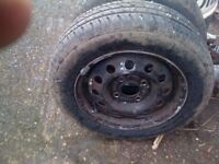 ford ka wheels and almost new tyres x2