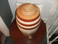 large stone pot with lid