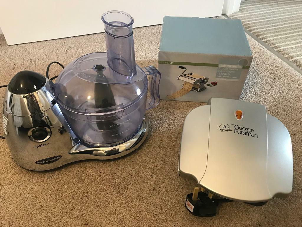 Blender, Grill and Pasta Machine