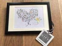 Butterfly Love Heart Framed Art for Mothers Day Gift