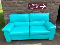 Stylish leather Granfort reclining sofa * free furniture delivery *