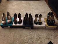 Bundle of women's shoes 5 pairs size 5,6,7 bnib