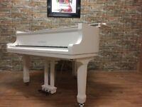 BRAND NEW STEINHOVEN SG148 - HIGH GLOSS WHITE BABY GRAND PIANO