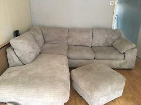Corner sofa with sofa bed