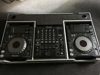 SOLD SOLD SOLD - Pioneer CDJ 2000 NXS (Nexus) x 2 + DJM 900 NXS + Flight Case & All Leads