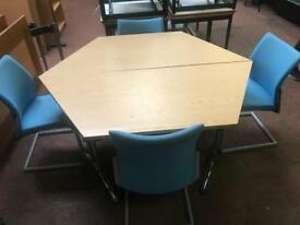 Foldable Meeting Table - Oak Veneer