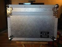 Idex Metal Clad Ply Flight Case 5U + 9U Adjustable Mixer Top Rack