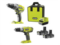One+18v Combi/Drill Driver Twin Pack