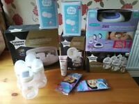 Breast pumps, bottles and steriliser