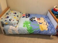 Cot bed and mattress ( not with cot sides ) great condition with nearly new John Lewis quilt