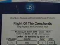 2 x Flight of the Conchords Tickets, Thursday 21 June 2018, O2 Arena, Block 106