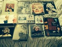 Marilyn Monroe collection ,books and DVDs