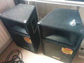 Yamaha S112IVN speakers x 2