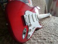 1993 Fender stratocaster plus deluxe. Crimson burst.