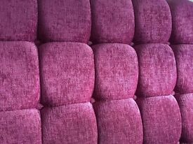Chenille Headboard - Floor-standing for Double bed - £20 - Used in excellent condition