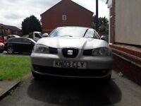 Seat Ibiza 2003 , 1.4 petrol ,12 month Mot