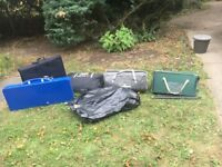 Various camping equipment