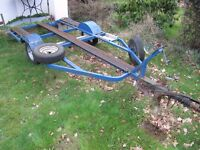 Motorbike trailer. A useful braked axle trailer suitable for carrying up to 3 motorcycles