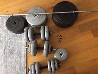 Vinyl weight set 127kg