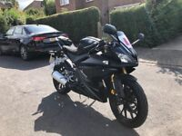 STUNNING YAMAHA YZFR 125cc BLACK 18 plate low mielage hpi clear!