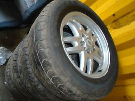 LANDROVER TD5 WHEELS AND TYRES, 18 INCH X 4