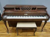 Classic Kimball Walnut Mahogany Piano. Quick sale as space is needed.