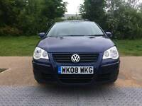 Volkswagen POLO Fuel type Petrol Engine size 1.4 Hatchback Mileage 78000 2008 Colour Blue Gearbox