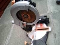 Evolution mitre saw cuts wood steel and aluminium
